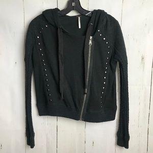 Free People Moto Studded rocker Jacket